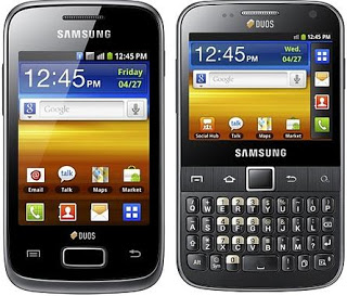 samsung galaxy y duos s6102 and pro duos b5512smart phones tuvuti rh tuvuti com Samsung Galaxy S8 Samsung Galaxy S4