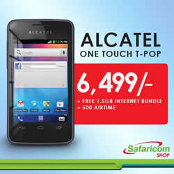 fc42df00709 Alcatel One Touch T'Pop Priced at Ksh6000 by Major Carriers in Kenya